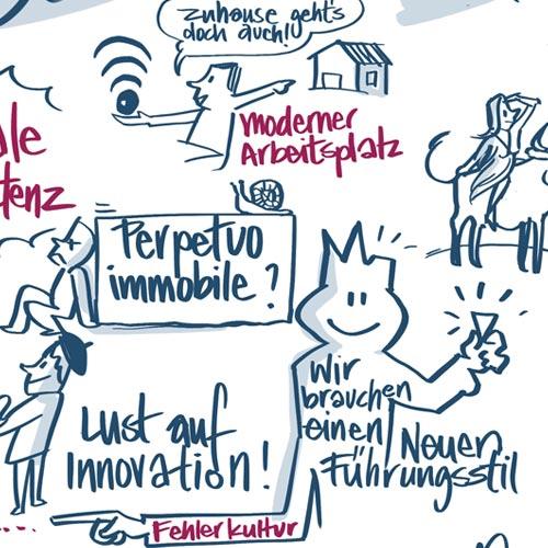 """Auszug vom Graphic Recording zum Thema """"Digitalisierung als Herausforderung"""""""